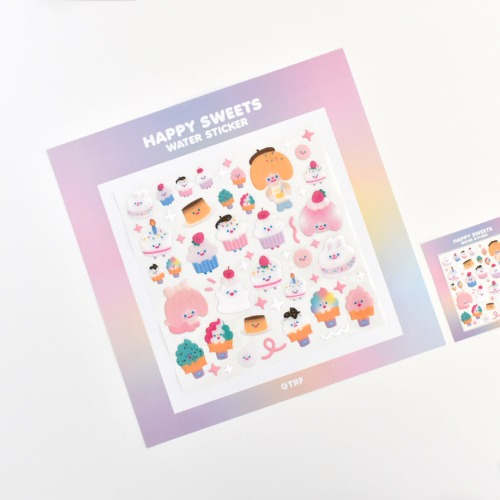 [리코더팩토리] 300% HAPPY SWEETS WATER STICKER