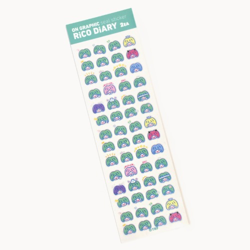 [리코더팩토리] RiCO DIARY SEAL STICKER - COLOR