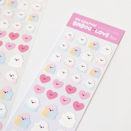 [리코더팩토리] BABOO IN LOVE SEAL STICKER - MATT WATER PROOF